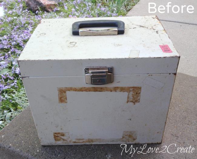 Metal box before