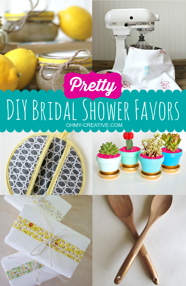 Unique Bridal Shower Gifts Diy : Pretty DIY Bridal Shower Favor Ideas OHMY-CREATIVE.COM #BridalShower ...