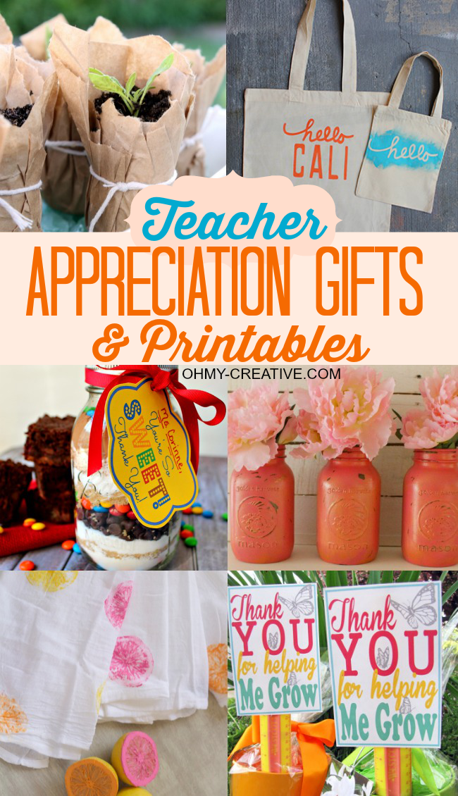 Teacher Appreciation Gifts & Printables Ideas | OHMY-CREATIVE.COM