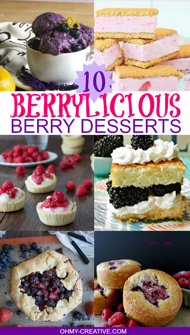 10 Berrylicious Berry Desserts  |  OHMY-CREATIVE.COM
