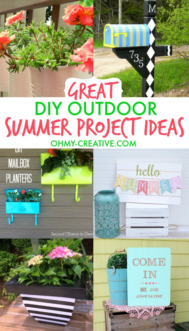 Great diy outdoor summer project ideas oh my creative for Homemade garden decor crafts