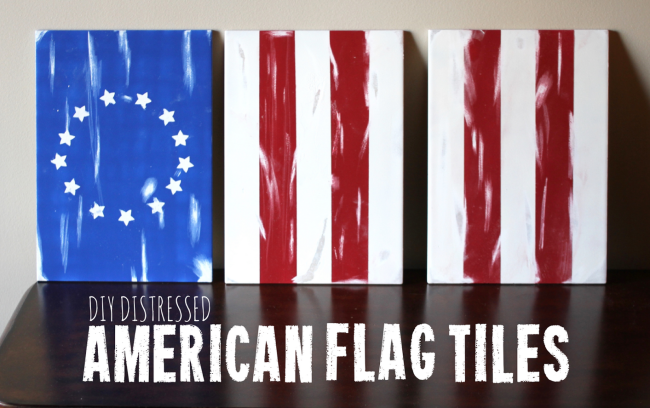 American Flag Tile Decoration