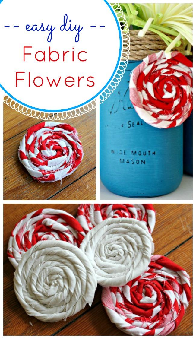 Easy DIY fabric scrap flowers - Oh My Creative