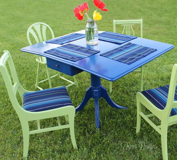 DIY patio dining set makeover