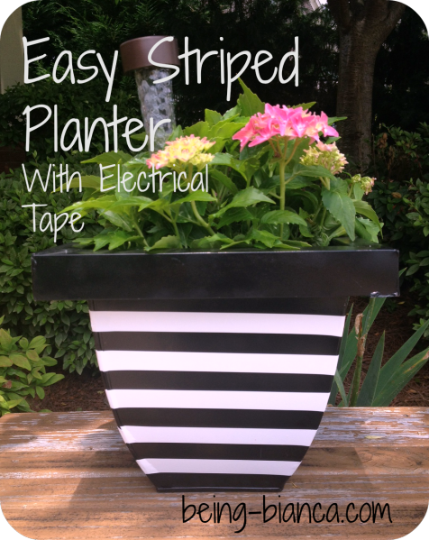 Easy Striped Planter with Electrical Tap