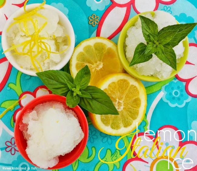 frozen ice with fresh lemon
