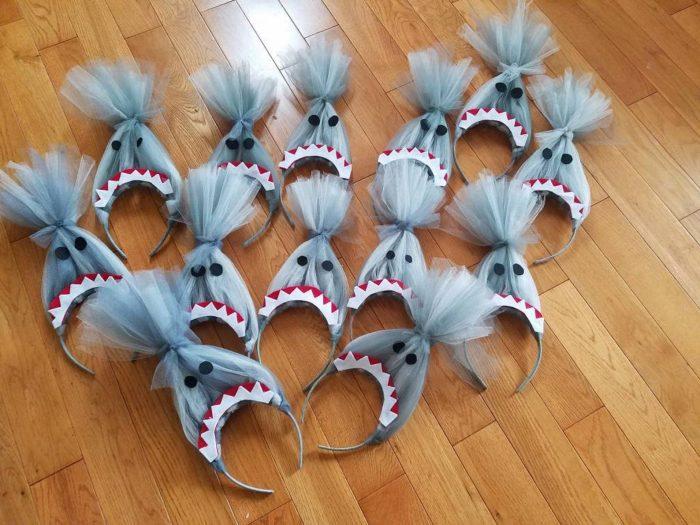 Baby shark hat headbands