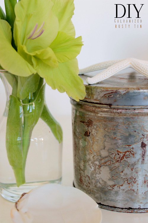 DIY Galvanized Rusty Tin via homework - carolynshomework