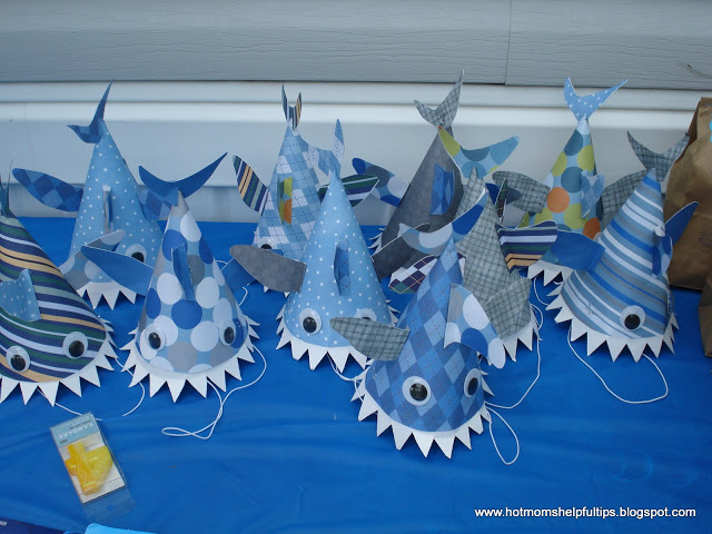 Shark week crafts and party ideas oh my creative for Party decorations you can make at home