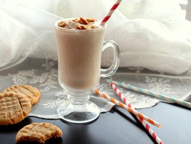 Milkshake made with peanut butter