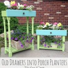 Old Dresser Drawers Turned into Flower Box Porch Planters - MyLove2Create