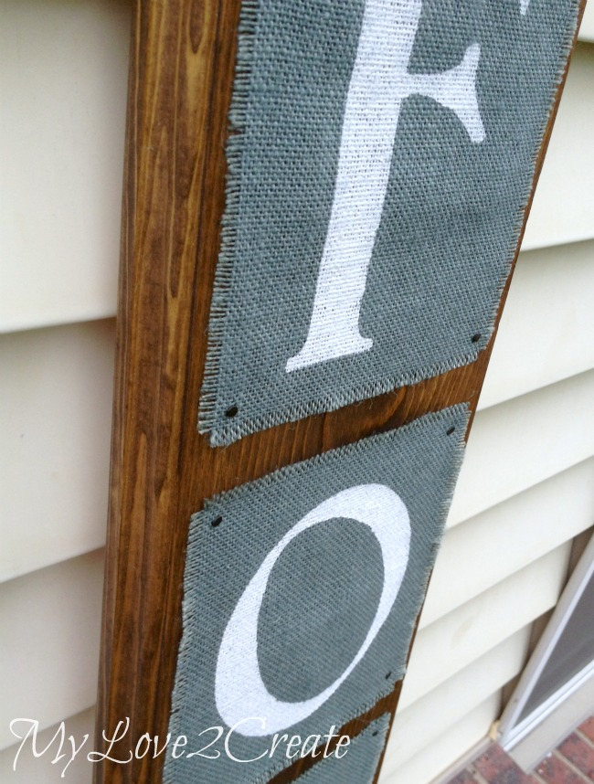 Easy Painted Burlap Wooden Sign