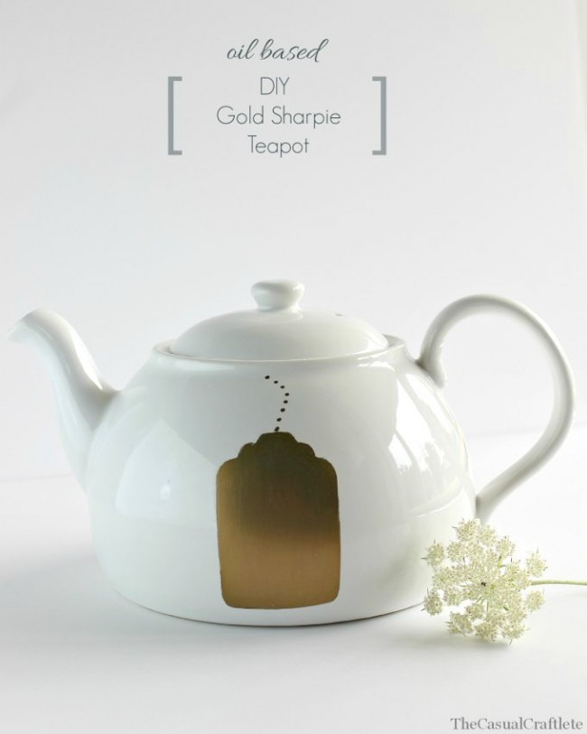 Oil-Based-DIY-Gold-Sharpie-Teapot-by-www.thecasualcraftlete.com