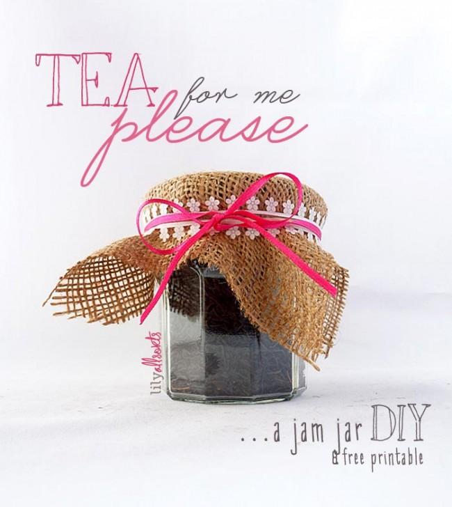 Burlap top tea thank you gift