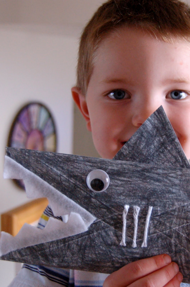 Paper envelope shark craft