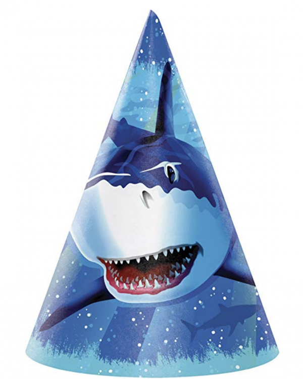 Cone Shark Party Hat