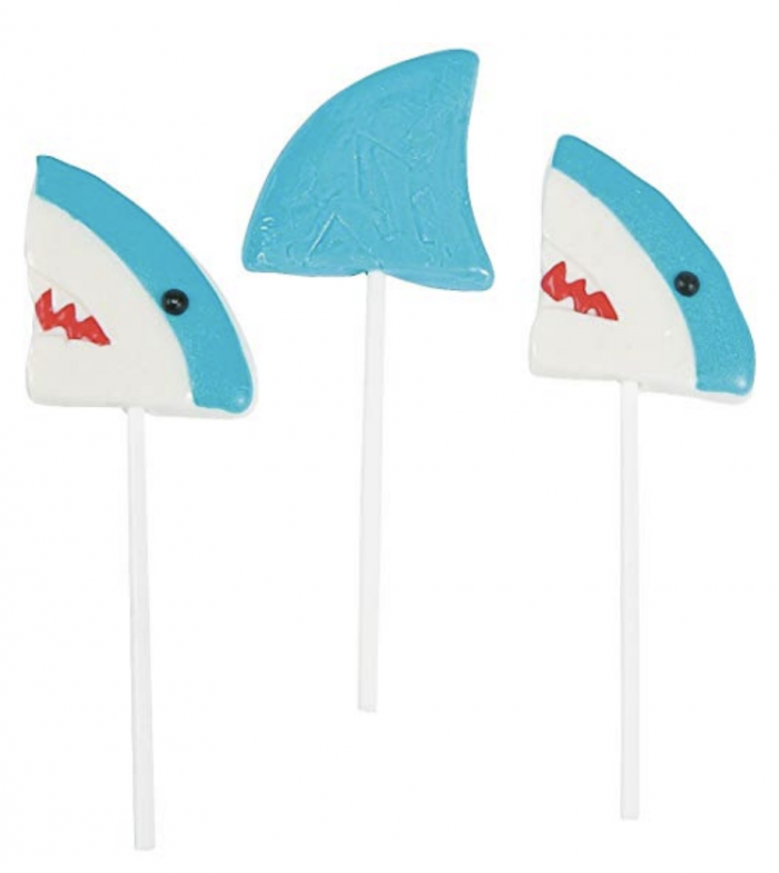 Shark candy - shark lollipops