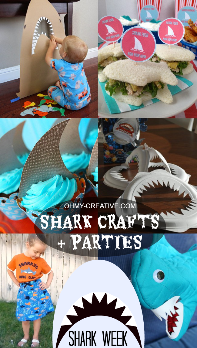 Shark crafts and party ideas shark week oh my creative for Crafts for birthday parties
