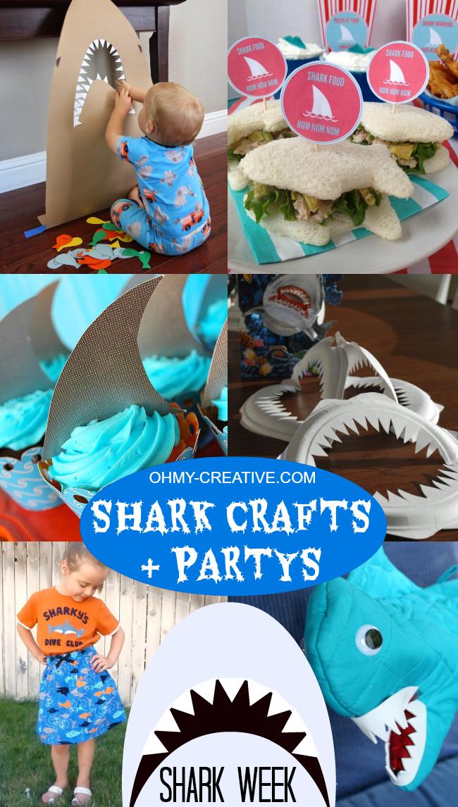 Shark Crafts And Shark Party Ideas | Shark Week