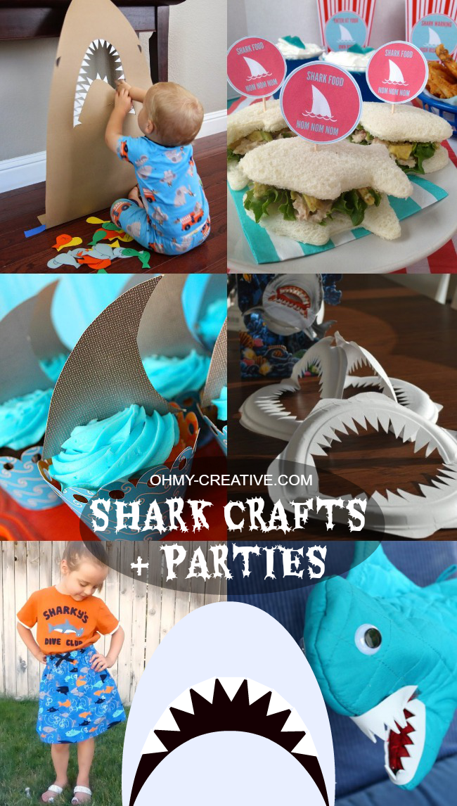 Shark Crafts & Shark Parties  |  OHMY-CREATIVE.COM