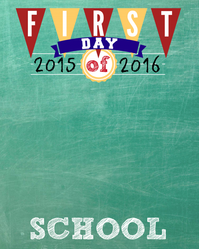 First Day of School Photo Printable  |  OHMY-CREATIVE.COM