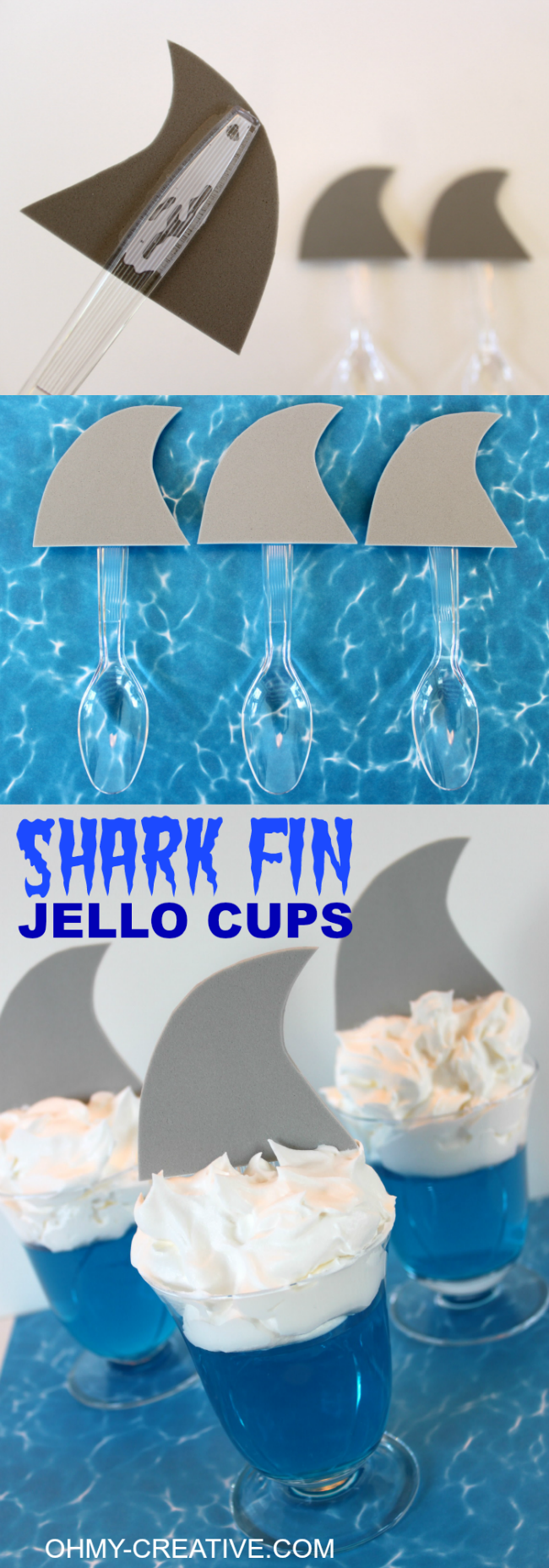 Shark Fin Jello Cups Oh My Creative