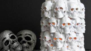 DIY Boneyard Lantern - a Pottery Barn knockoff for Halloween   OHMY-CREATIVE.COM