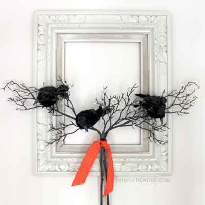 Black Crow Frame Wreath