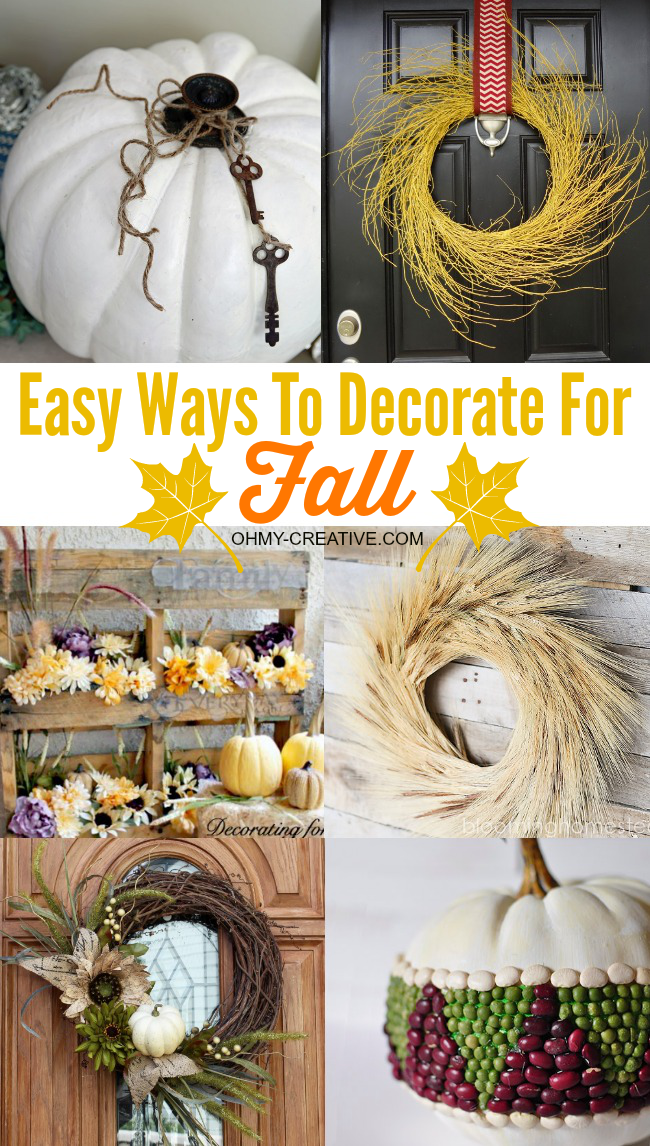 Simple Fall Wreath: Easy DIY Fall Decor Ideas