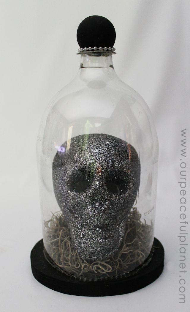 Spooky Halloween Specimen Jars using 2 litter soda bottles