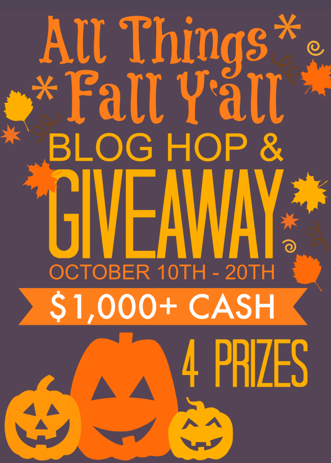 All Things Fall Yall Blog Hop Giveaway 4 prizes All Things Fall Yall Blog Hop & Giveaway