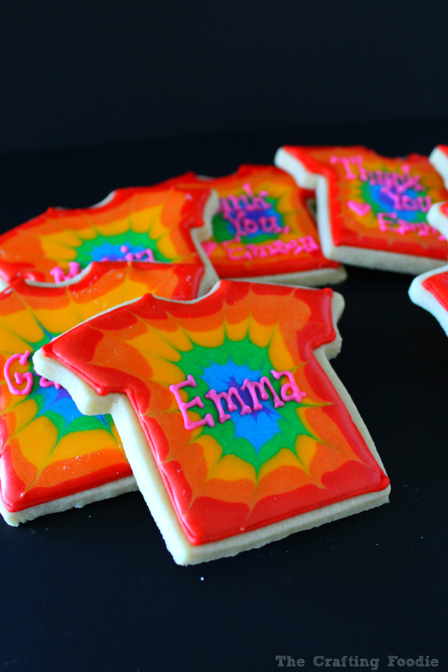Tie-Dye Sugar Cookie Party Favors Plus Tips on How to Write with Royal Icing
