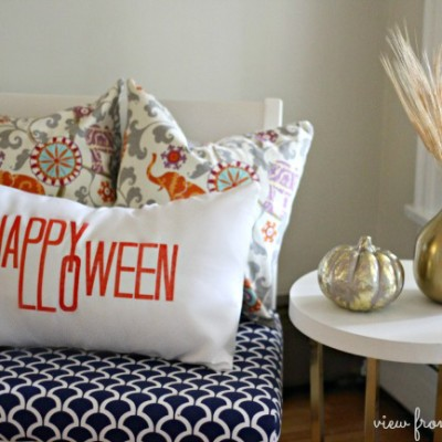 No Sew Happy Halloween Pillow Cover