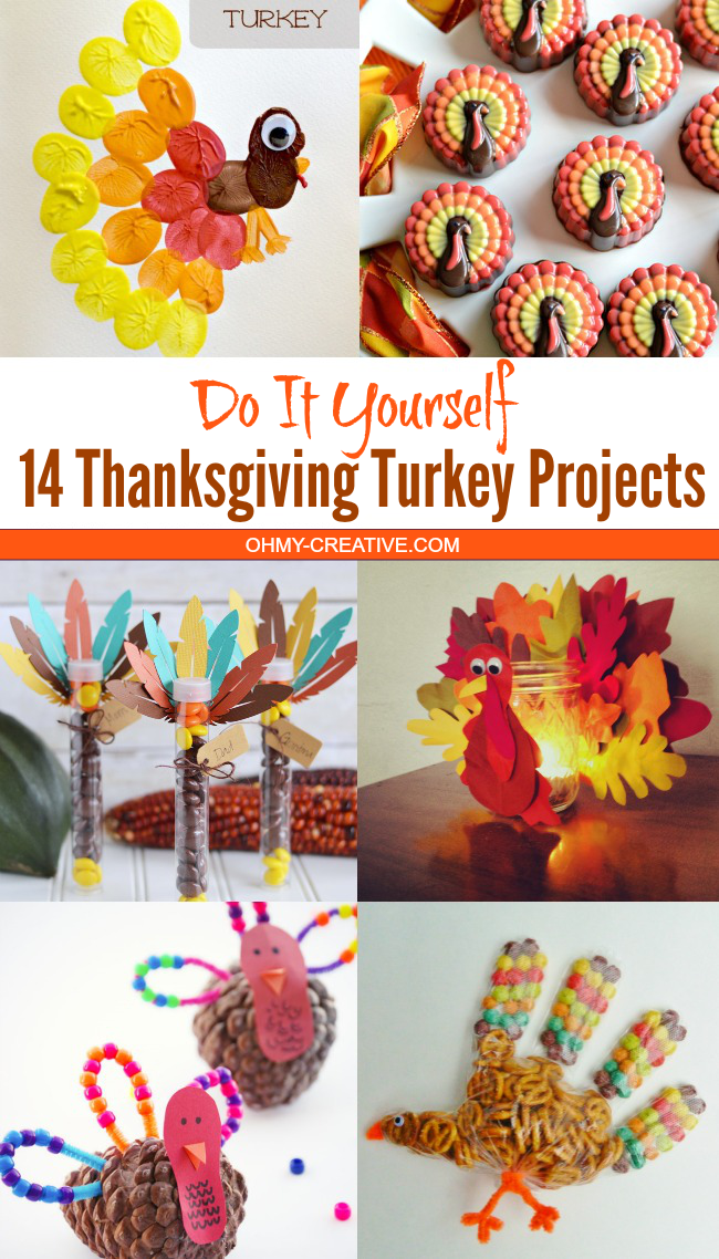 14 Thanksgiving Turkey Projects | OHMY-CREATIVE.COM