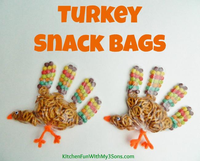 Kids Turkey Snack Bags