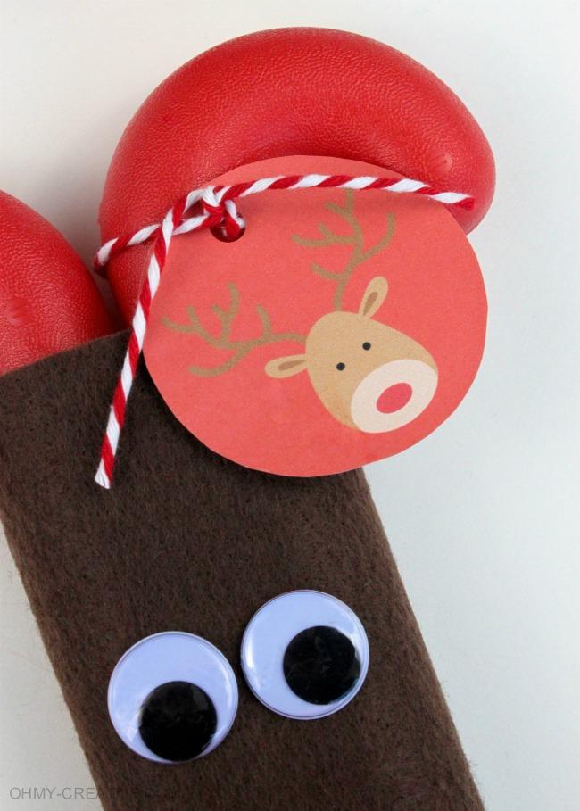 Free Printable Reindeer Tag | OHMY-CREATIVE.COM