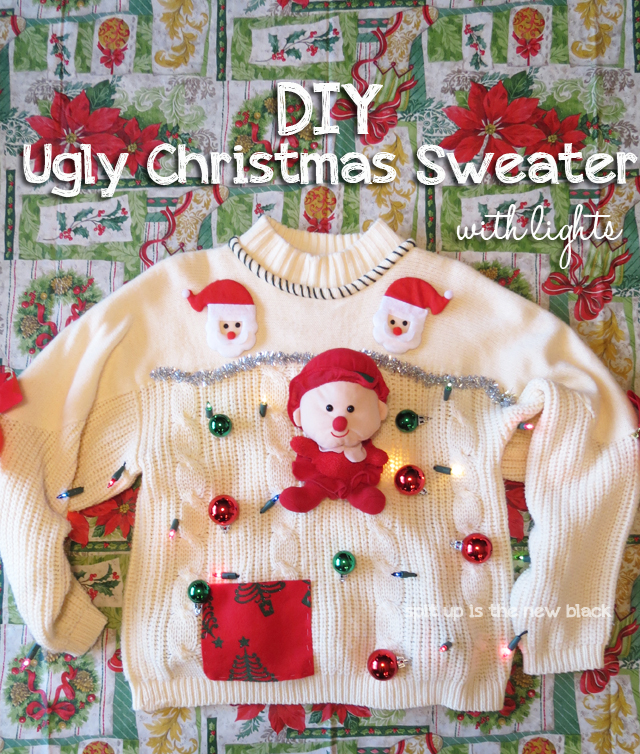 DIY Ugly Christmas Sweater With Lights