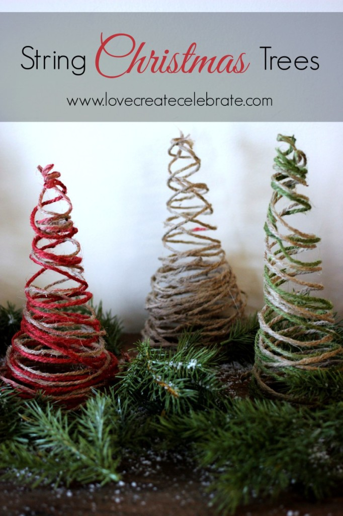 Christmas Trees Made From Yarn