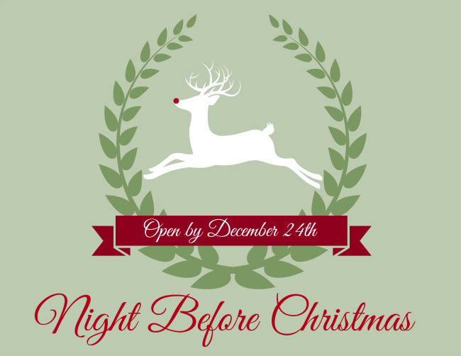 Night Before Christmas Box Printable Label | OHMY-CREATIVE.COM