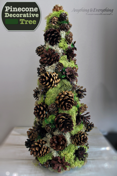Dollar Store Pinecone Decorative Tree