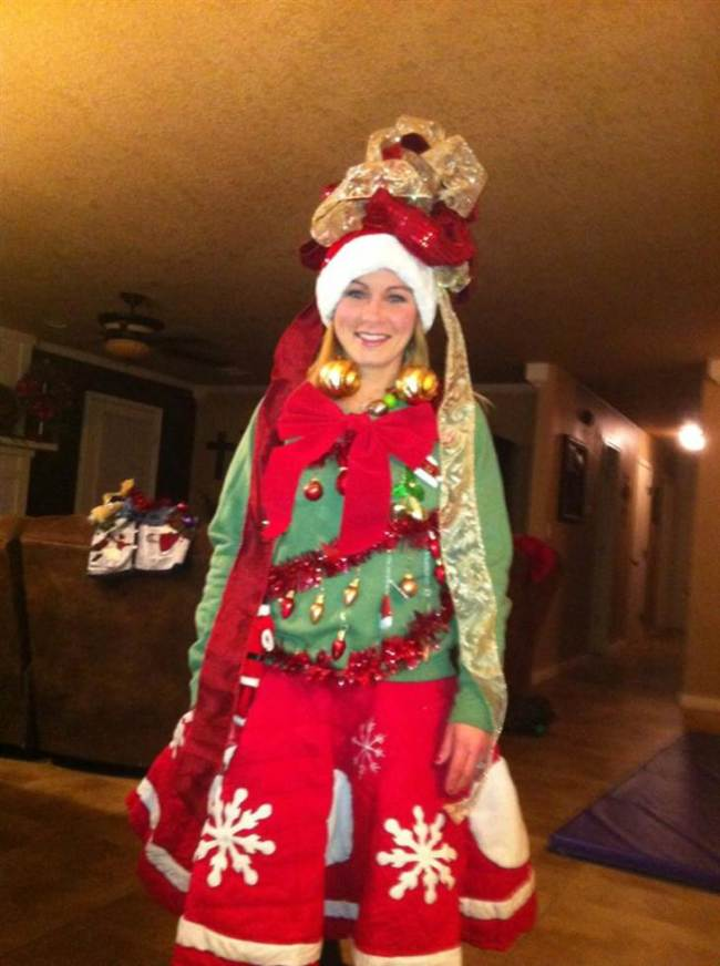 Ugly sweater christmas suit
