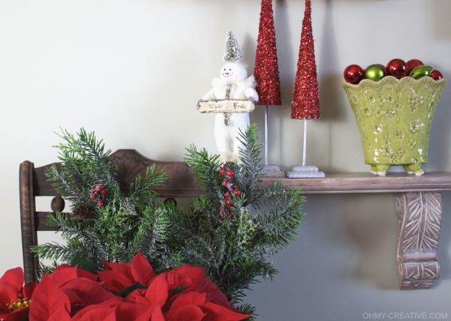 Vintage Snowman Christmas Decor  |  OHMY-CREATIVE.COM