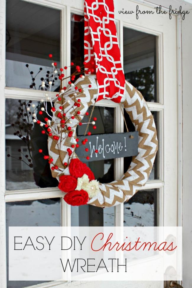 easy-diy-Christmas-wreath
