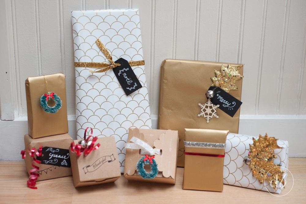 Red white and gold gift wrapping ideas oh my creative Gift wrapping ideas