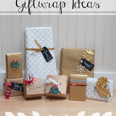 Red, White and Gold Gift Wrapping Ideas