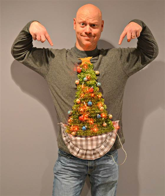 Ugly Christmas Sweater Christmas Tree: 15 Do It Yourself Ugly Christmas Sweaters