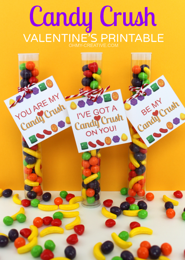 Candy Crush Valentine Printable