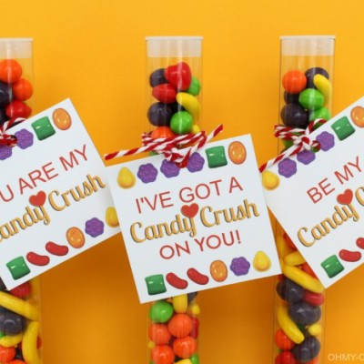 Candy Crush Free Printable Tags