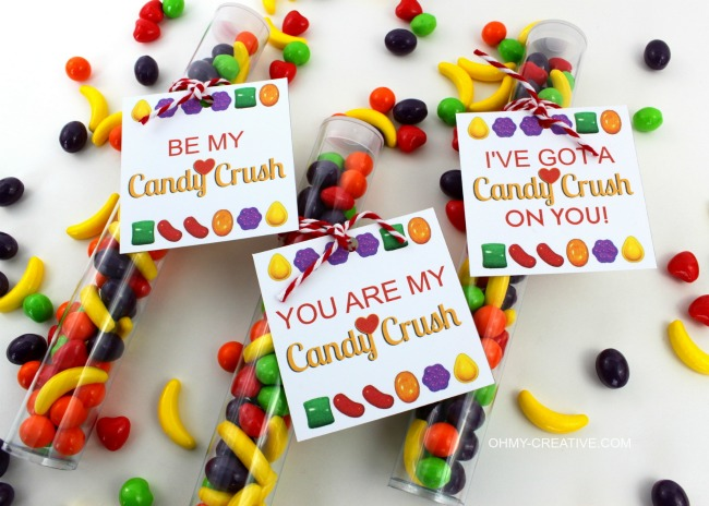 Candy Crush Valentine's Printable Tag and Gift Idea | OHMY-CREATIVE.COM