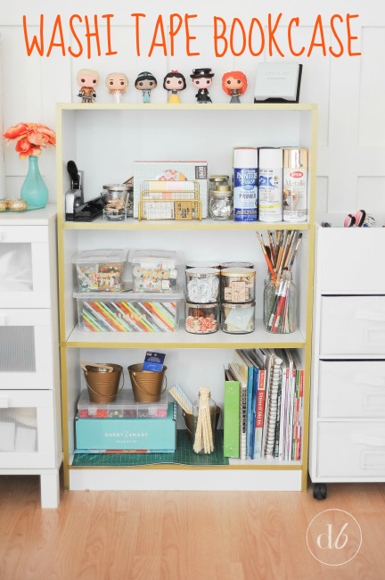 What To Do With Washi Tape washi tape bookcase - oh my creative